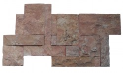 wall cladding 02 dark terra cotta 25x50
